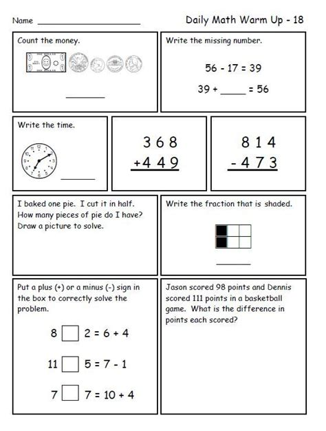 2nd Grade Common Math Word Problems Worksheets by Math For Second Grade Third Trimester Words Places And