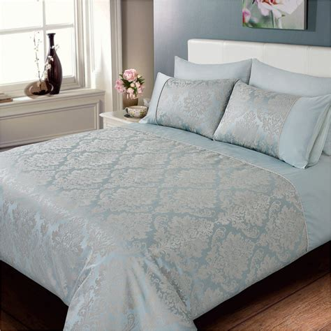 Blue Bedroom Ideas by Elizabeth Jacquard Damask Duvet Set Bedding Duvet Sets
