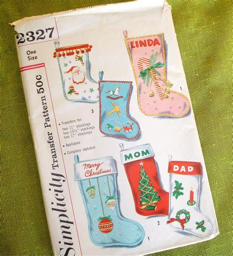 simplicity pattern for christmas stocking 17 best images about noel vintage patterns all on pinterest