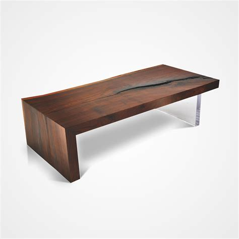 walnut coffee table live edge walnut coffee table and plexi base rotsen