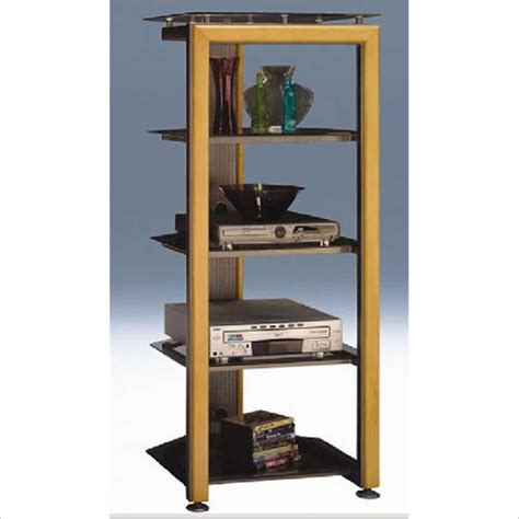 bush furniture universal tower w 3 fixed shelves audio