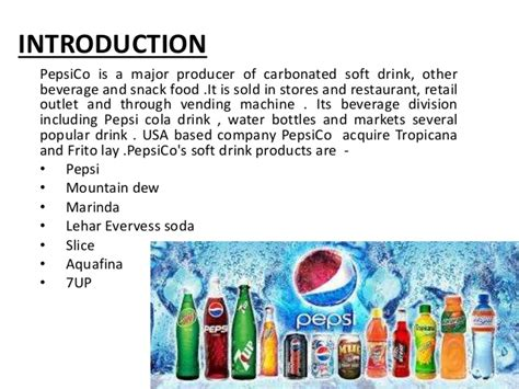introduction of pepsi slideshare project report on quality control in pepsico hajipur