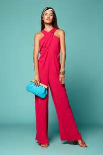 Here we see an awesome fuchsia red jumpsuit with wide leg pants here