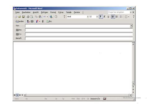 email layout vorlagen e mail vorlage arbeitsblatt kostenlose daf arbeitsbl 228 tter