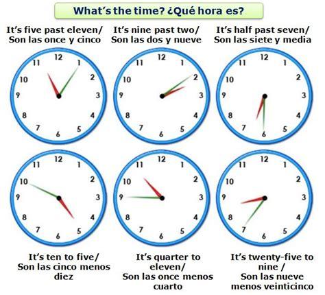 imagenes hora en ingles la hora en ingl 233 s the time in english ingl 233 s pr 225 ctico