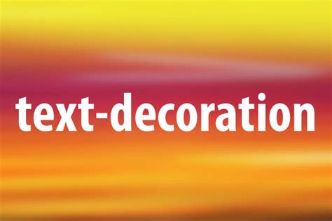 Css Text Decoration Color by