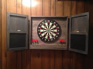 white dartboard cabinet diy projects