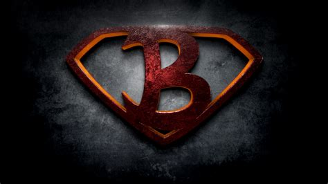 the b the letter b in the style of man of steel beloeil jones