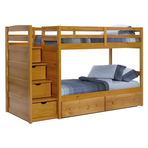 bunk beds for kids with stairs diy bunk beds with plans guide patterns bed for kids