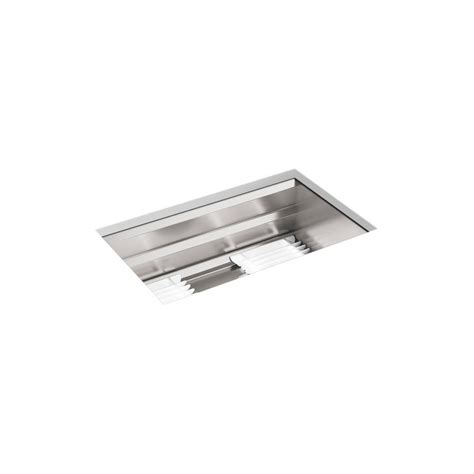 kohler stainless undermount sink kohler prolific undermount stainless steel 29 in l single