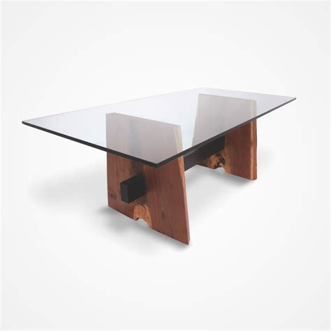 Glass Base Table L by Walnut Base Dining Table Glass Top Rotsen Furniture