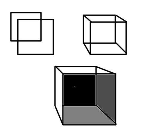 How To Make A 3 Dimensional Cube Out Of Paper - guide to drawing 3 dimensional objects questions