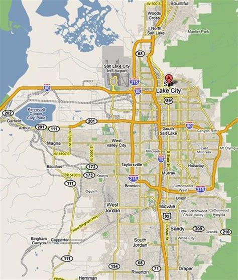 zip code map utah salt lake city maps of salt lake city salt lake tourist and visitor