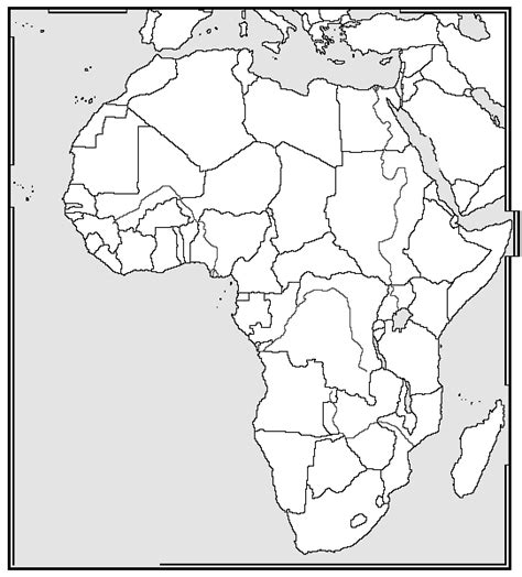 printable map africa countries online maps blank africa map