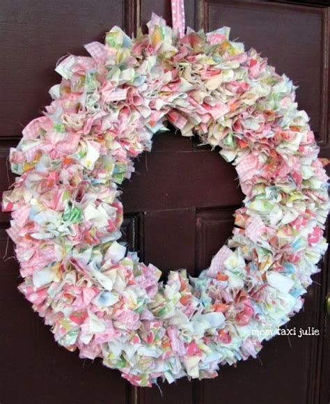 rag wreath rag wreath more inspiration iii
