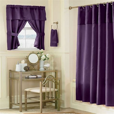elegant bathroom curtains elegant purple curtain idea with vintage bathroom interior