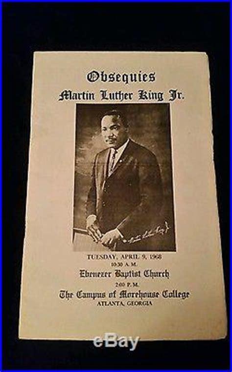 authentic original martin luther king jr funeral program