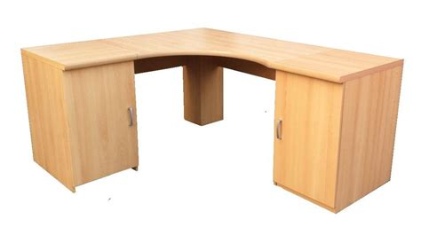 Beech Corner Desk Corner Desk Workstation Computer Table For Home Or Office Furniture Beech Ebay