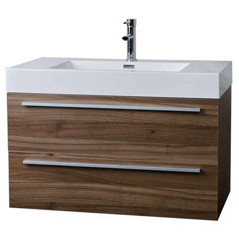 modern walnut bathroom vanity 35 5 quot wall mount contemporary bathroom vanity walnut tn