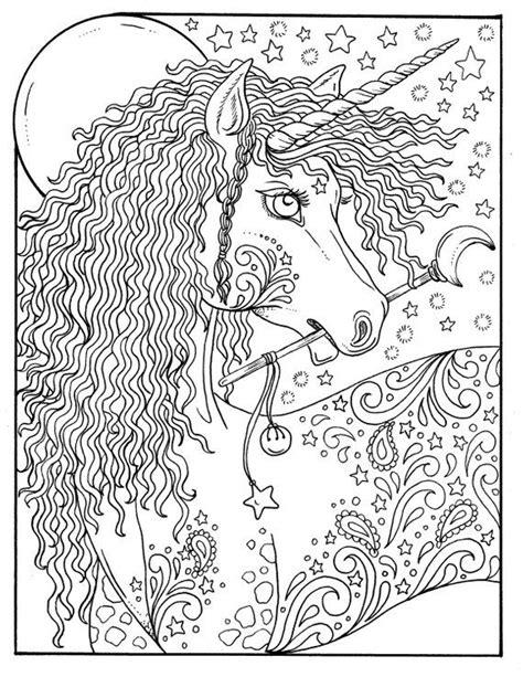 digital coloring book unicorn dreams magical fantasy