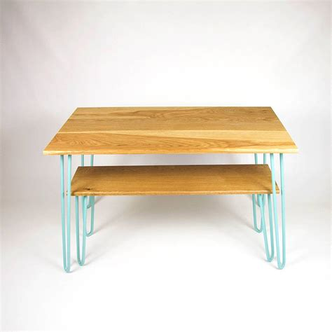 Hairpin Dining Table And Bench Dining Set With Industrial Hairpin Legs In Plywood By Cord