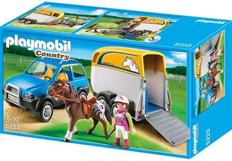 cheval country voiture avec et playmobil le