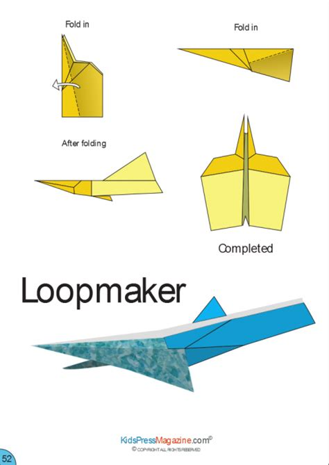 How To Make An Advanced Paper Airplane - paper airplane loopmaker