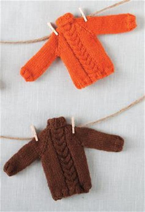 knitting pattern miniature sweater ornament tiny holiday sweater ornament pattern knitting patterns