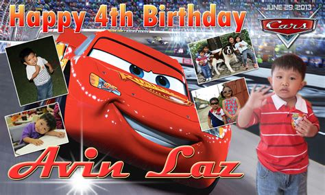 layout design maker for tarpaulin avin laz s 2nd birthday cars theme cebu balloons and