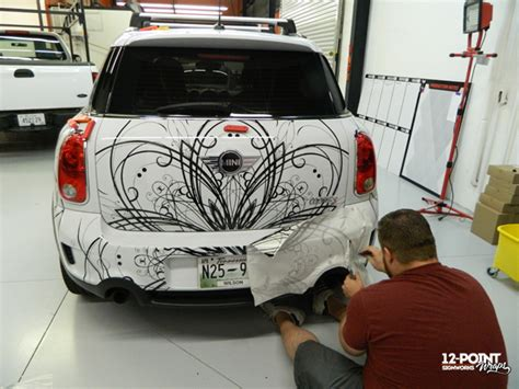 Mini Cooper Vinyl Graphics Cut Vinyl Graphics For White Mini Cooper In Franklin Tn