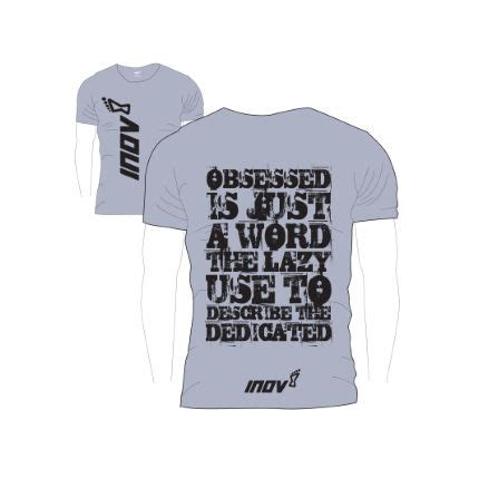 Tshirt Nos Efforts Grey maillots de running 224 manches courtes inov 8 obsessed