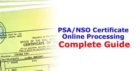 psanso certificate  processing complete guide