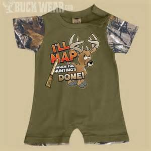Baby boys romper i ll nap when hunting is done boy s camouflage clothing baby amp kids