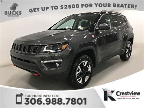 2017 jeep compass sunroof used 2017 jeep compass trailhawk 4x4 sunroof