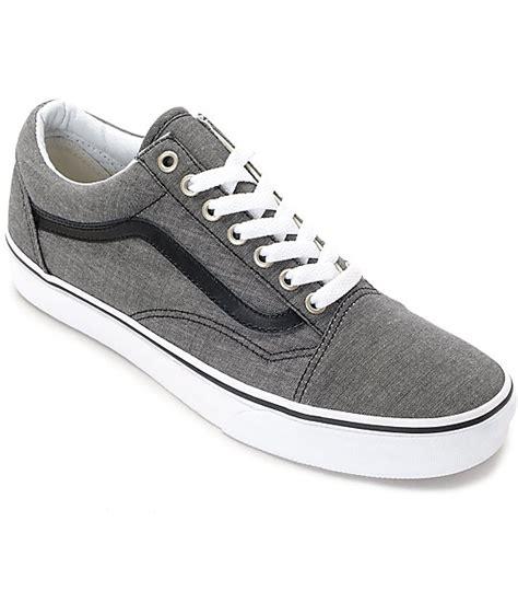 Vans Oldskool Chambray Addict3d vans skool black chambray skate shoes