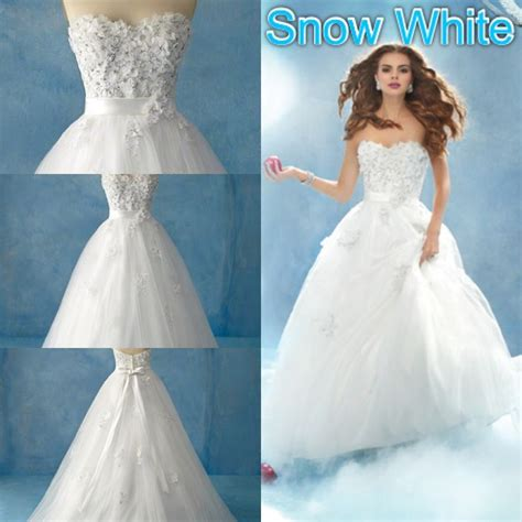Snow Dress disney wedding dresses snow white 2 wedding