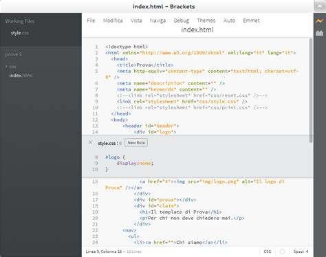 javascript layout control brackets l editor of and to html css e javascript