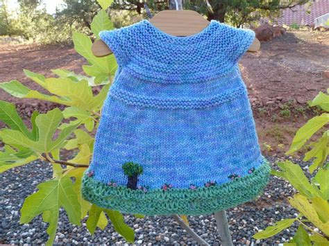 pattern knitting baby dress garden party baby dress by taiga hilliard knitting pattern
