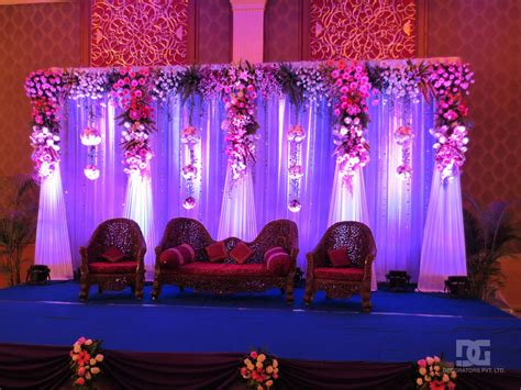 Wedding Backdrop Stage by Wedding Decoration Indoor Stage Backdrop