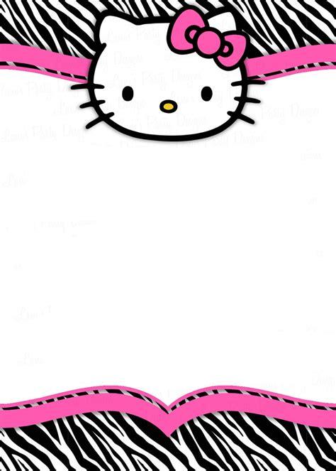 kitty  printable invitation templates