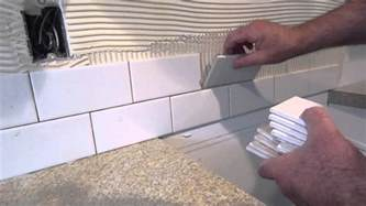 how to install tile backsplash casual cottage installing a kitchen backsplash video home design ideas