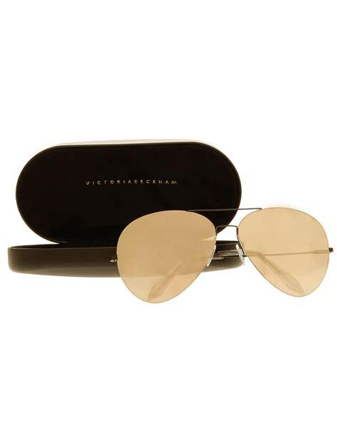 Bckham Sunglasses beckham feather aviator sunglasses in metallic lyst