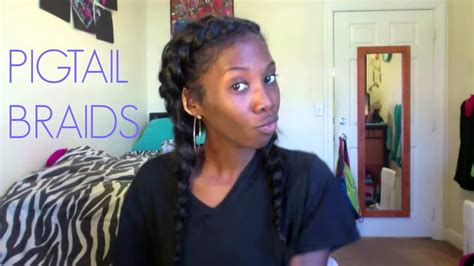 double dutch french braid cornrow pigtails  clip  extensions youtube