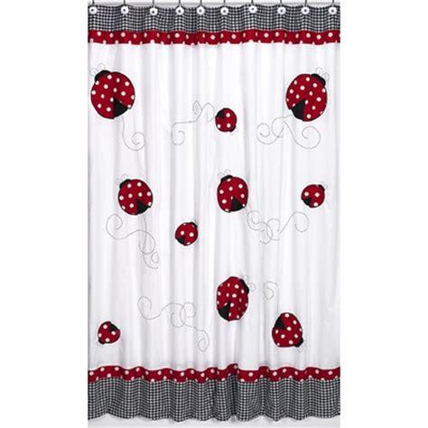 ladybug curtains little ladybug shower curtain townhouse linens