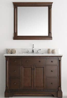 49 inch antique coffee bathroom vanity with mirror carrera