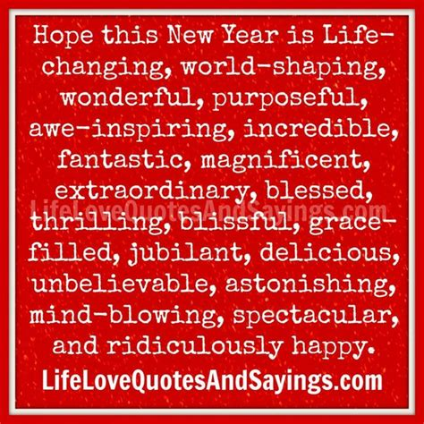 awesome new years quotes hope this new year my life get