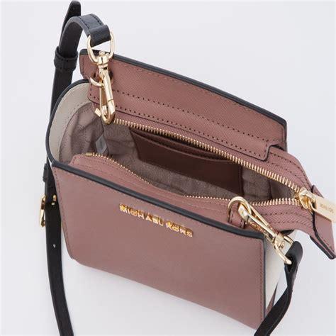 Mk Messanger Selma Mini 22 michael kors selma mini saffiano leather messenger bag blush black