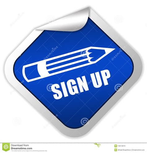 sign up sign up icon stock photos image 13514973