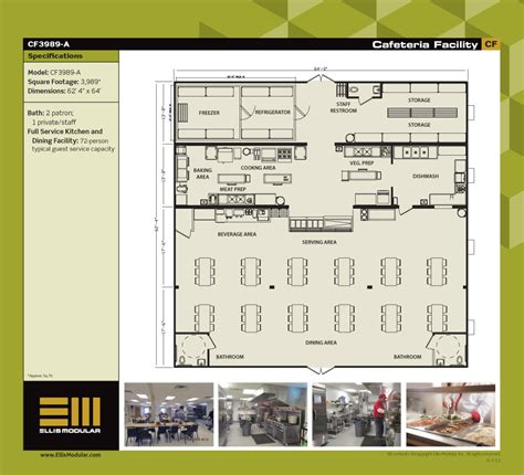floor plan of cafeteria ellis modular buildings cafeteria facilities floor plans
