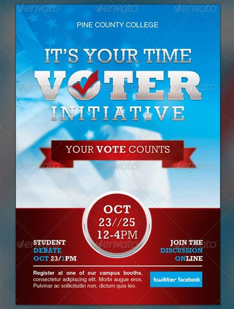vote poster template political and voting flyer templates corporate templates